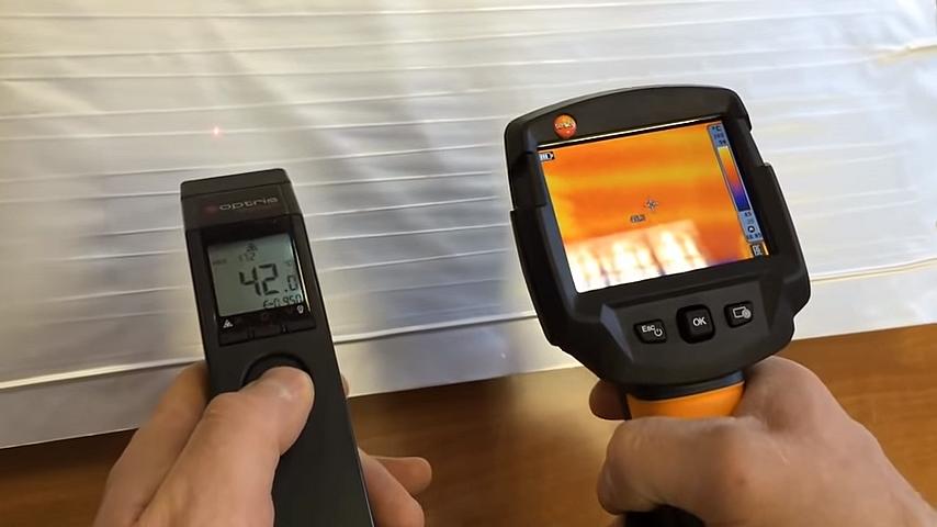 Принцип действия ЗЕБРА ЭВО-300 – нагрев рабочей стороны нагревателя, проверка пирометром и тепловизором
