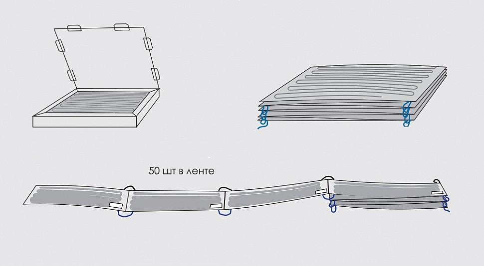 Потолочный нагреватель ЗЕБРА ЭВО-300 серий SOFT, ST, PRO, EX в упаковке единой лентой модулями по 50 шт.